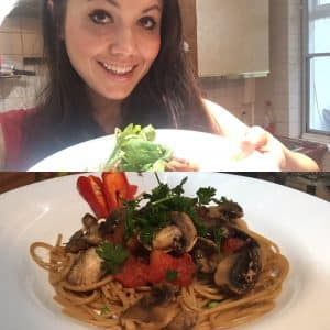 spaghetti and spicy mushrooms healthy recipe bbc good food tinkerdash