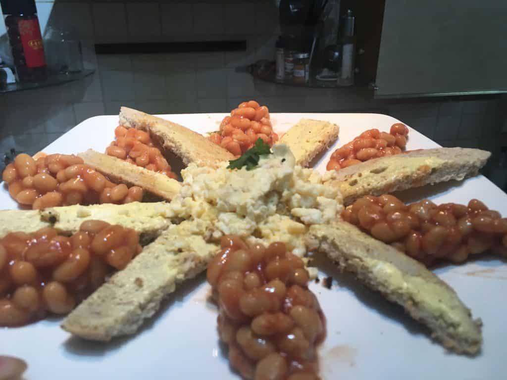 scrambled egg sunshine breakfast recipe mama mei healthy family food blog blogger eggs baked beans