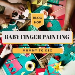 mummy to dex baby finger painting
