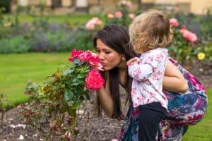 freya raby rose smelling